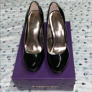 Madden Girl Black Patent Leather heels